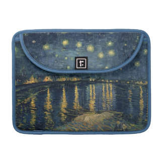 Vincent van Gogh | Starry Night Over the Rhone Sleeve For MacBooks