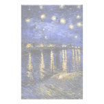 Vincent Van Gogh Starry Night Over The Rhone Customized Stationery