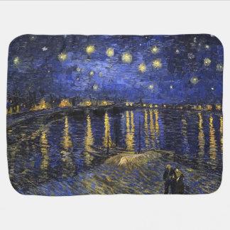 Vincent Van Gogh Starry Night Over The Rhone Stroller Blanket