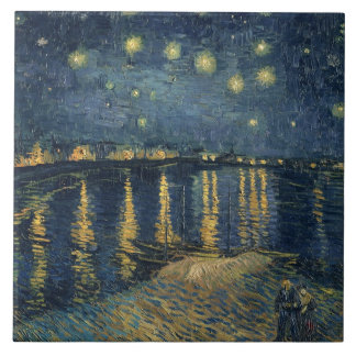 Vincent van Gogh | Starry Night Over the Rhone Tile