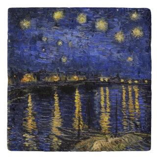 Vincent Van Gogh Starry Night Over The Rhone Trivets
