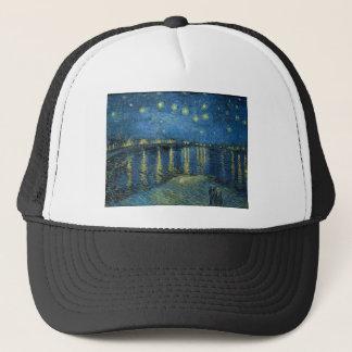 Vincent Van Gogh Starry Night Over the Rhone Trucker Hat