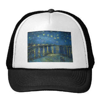 Vincent Van Gogh Starry Night Over the Rhone Trucker Hat