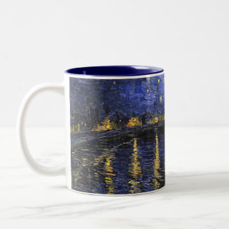 Vincent Van Gogh Starry Night Over The Rhone Two-Tone Coffee Mug