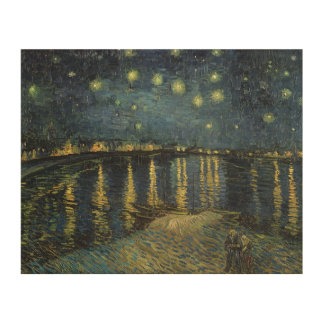 Vincent van Gogh | Starry Night Over the Rhone Wood Wall Art