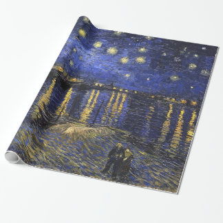 Vincent Van Gogh Starry Night Over The Rhone Wrapping Paper