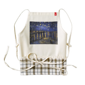 Vincent Van Gogh Starry Night Over The Rhone Zazzle HEART Apron