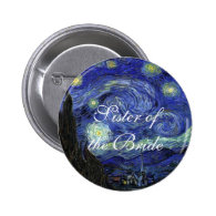 Vincent van Gogh, Starry Night Pinback Buttons