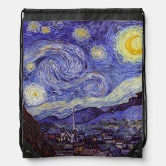 Vincent Van Gogh Starry Night Drawstring Backpacks
