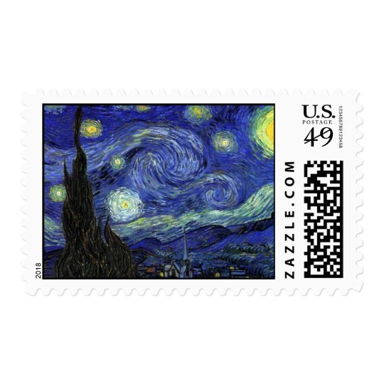 Vincent van Gogh, Starry Night Postage