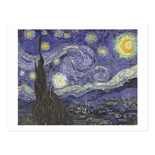Vincent Van Gogh - Starry Night - Postcard