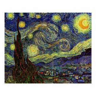 Vincent Van Gogh: Starry night Poster