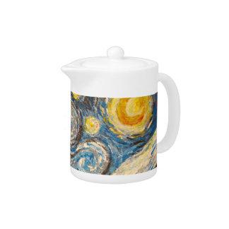 Vincent Van Gogh Starry Night repainted Teapot