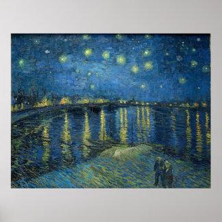 Vincent Van Gogh Starry Night Rhone Sternennacht Poster