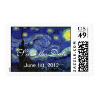 Vincent van Gogh, Starry Night, Save the date Stamps