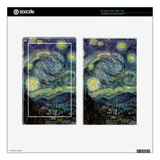 Vincent van Gogh - Starry Night Kindle Fire Skin