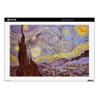 """Vincent Van Gogh Starry Night 17"""" Laptop Decals"""