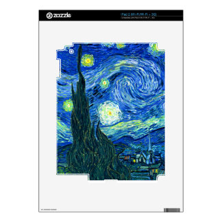 vincent van gogh starry night decal for iPad 2
