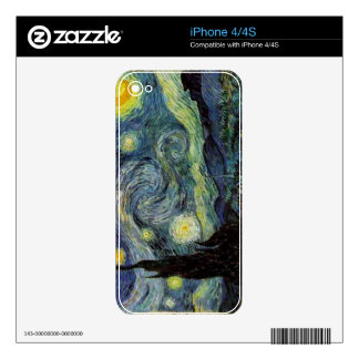 Vincent van Gogh,Starry Night Skin For iPhone 4