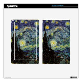 Vincent van Gogh,Starry Night Skin For Kindle Fire
