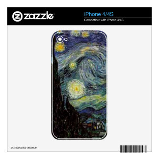 Vincent van Gogh - Starry Night Skins For iPhone 4S