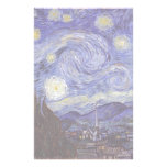 Vincent van Gogh Starry Night Stationery Paper