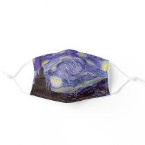 Vincent Van Gogh Starry Night Vintage Fine Art Adult Cloth Face Mask
