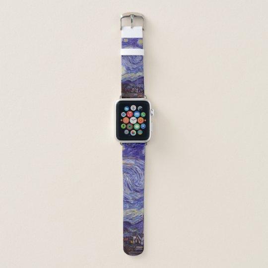 Vincent Van Gogh Starry Night Vintage Fine Art Apple Watch Band