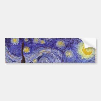 Vincent Van Gogh Starry Night Vintage Fine Art Bumper Sticker