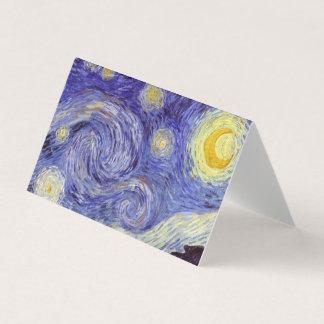 Vincent Van Gogh Starry Night Vintage Fine Art Business Card