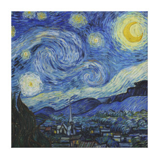 Vincent Van Gogh Starry Night Vintage Fine Art Gallery Wrap Canvas