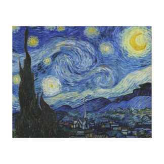 Vincent Van Gogh Starry Night Vintage Fine Art Canvas Prints