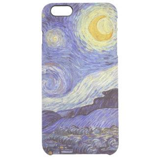 Vincent Van Gogh Starry Night Vintage Fine Art Clear iPhone 6 Plus Case