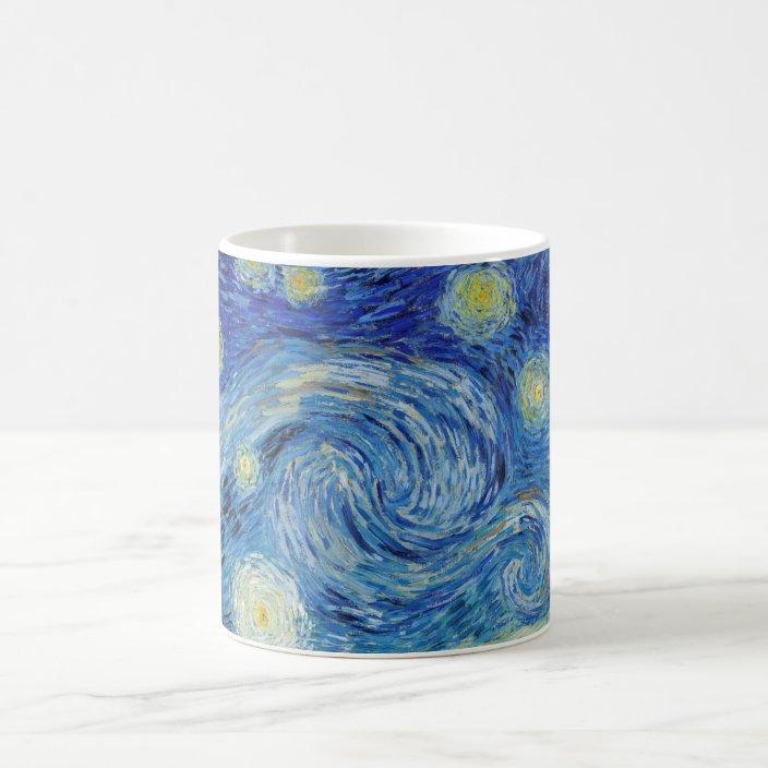 Vincent Van Gogh Starry Night Vintage Fine Art Coffee Mug Zazzle Com