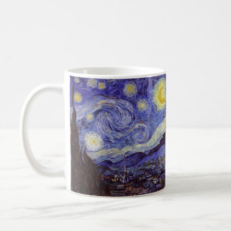 Vincent Van Gogh Starry Night Vintage Fine Art Coffee Mug