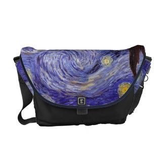 Vincent Van Gogh Starry Night Vintage Fine Art Courier Bag