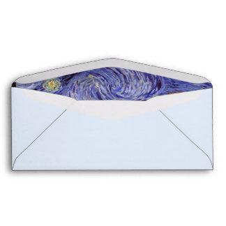 Vincent Van Gogh Starry Night Vintage Fine Art Envelope