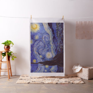 Vincent Van Gogh Starry Night Vintage Fine Art Fabric