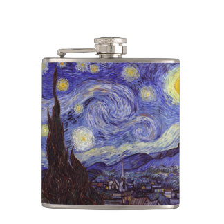 Vincent Van Gogh Starry Night Vintage Fine Art Flask