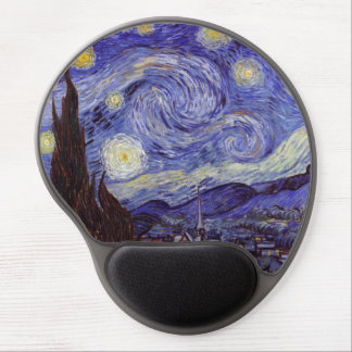 Vincent Van Gogh Starry Night Vintage Fine Art Gel Mouse Pad