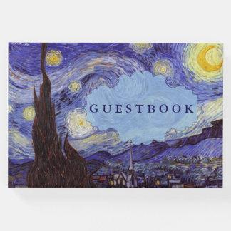 Vincent Van Gogh Starry Night Vintage Fine Art Guest Book