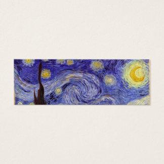 Vincent Van Gogh Starry Night Vintage Fine Art Mini Business Card