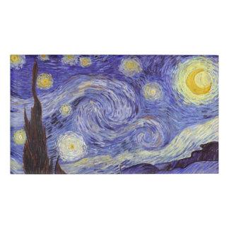 Vincent Van Gogh Starry Night Vintage Fine Art Name Tag