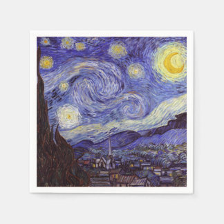 Vincent Van Gogh Starry Night Vintage Fine Art Napkin