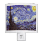 Vincent Van Gogh Starry Night Vintage Fine Art Night Light at Zazzle