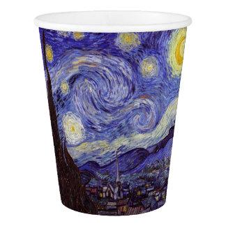 Vincent Van Gogh Starry Night Vintage Fine Art Paper Cup