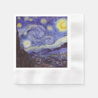 Vincent Van Gogh Starry Night Vintage Fine Art Paper Napkin