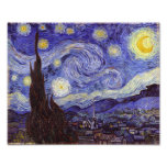 Vincent Van Gogh Starry Night Vintage Fine Art Photo Print