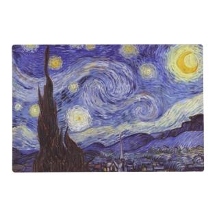 Vincent Van Gogh Starry Night Vintage Fine Art Placemat at Zazzle