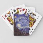 """Vincent Van Gogh Starry Night Vintage Fine Art Playing Cards<br><div class=""""desc"""">Vincent van Gogh Starry Night Fine Art Painting Starry Night is a painting by Dutch post-impressionist artist Vincent van Gogh. The blue night sky is filled with swirling clouds, stars, and a bright crescent moon. The Starry Night is the only nocturne in the series of views from his bedroom window....</div>"""